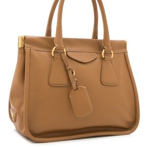 PRADA Saffiano Lux Top Handle Bag